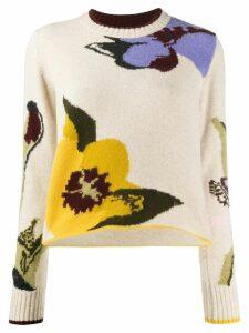Pringle of Scotland floral intarsia knit jumper - NEUTRALS