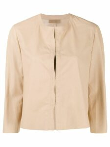 Drome round neck jacket - NEUTRALS