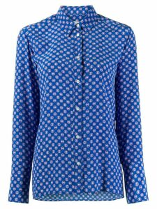 Sandro Paris Doryn monogram print shirt - Blue
