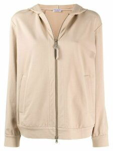 Brunello Cucinelli relaxed-fit zip-up hoodie - NEUTRALS