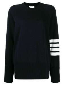 Thom Browne 4-Bar Raglan Sleeve Jumper - Blue