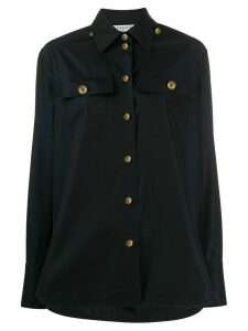 Givenchy logo button shirt - Blue