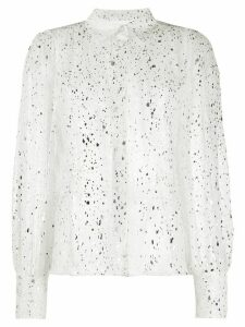 MSGM gltter effect shirt - White