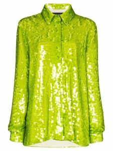 ANOUKI oversized sequinned shirt - Green
