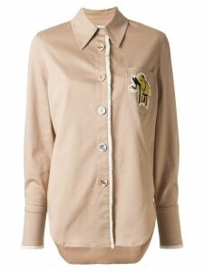 Mira Mikati Safari elephant patch shirt - Brown