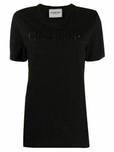Iceberg logo embroidered T-shirt - Black
