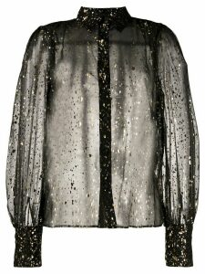 MSGM glitter effect shirt - Black