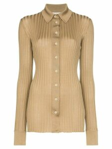 Bottega Veneta ribbed-knit silk shirt - Brown