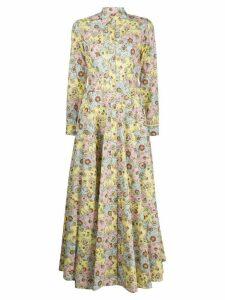 Evi Grintela floral shirt dress - Yellow