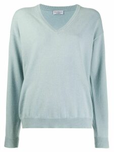 Brunello Cucinelli loose-fit jumper - Blue