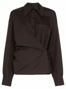 Lemaire twist front shirt - Black