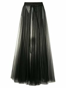 Loulou tulle pleated maxi skirt - Black