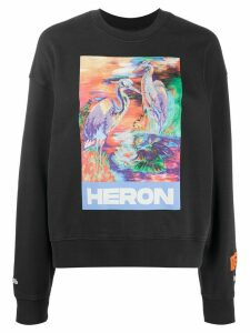 Heron Preston logo graphic print sweatshirt - Black