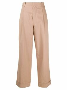 Maison Margiela high-waisted cropped trousers - NEUTRALS