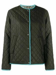 Salvatore Ferragamo reversible diamond quilted rain jacket - Black