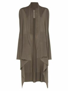 Rick Owens long-line waterfall cardigan - NEUTRALS