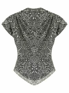 Isabel Marant paisley print draped blouse - Black
