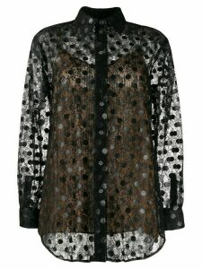 Marco De Vincenzo polka dot lace shirt - Black