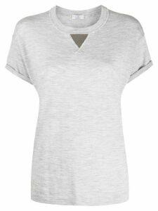 Brunello Cucinelli triangle detail T-shirt - Grey