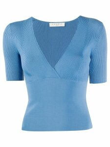 Sandro Paris Sheryl ribbed top - Blue