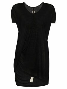 Rick Owens Hiked asymmetric long-line T-shirt - Black
