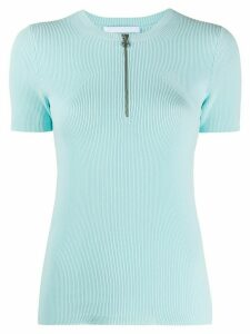 Helmut Lang short sleeve zip T-shirt - Blue