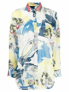 Ermanno Scervino oversized abstract-print shirt - Yellow