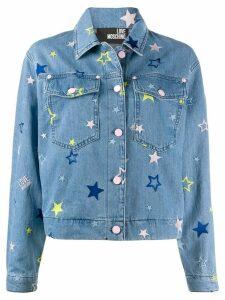 Love Moschino star embroidered denim jacket - Blue