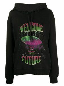 MSGM printed details hoodie - Black