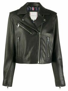 Tommy Hilfiger cropped biker jacket - Black