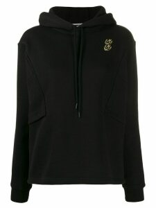 McQ Alexander McQueen embroidered bird detail hoodie - Black