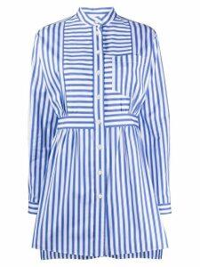 Prada striped belted shirt - Blue