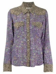 Zadig & Voltaire Thelma print mix shirt - PURPLE