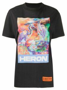 Heron Preston graphic print T-shirt - Black