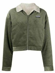 adidas fitted corduroy jacket - Green