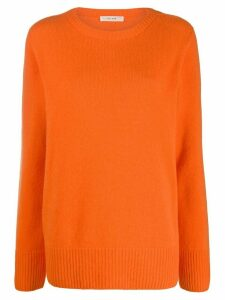 The Row ribbed neck jumper - ORANGE