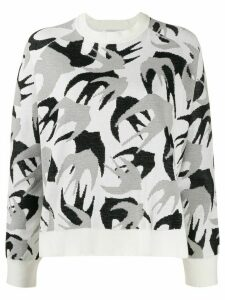 McQ Alexander McQueen bird pattern jumper - White