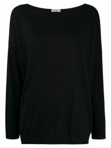 Brunello Cucinelli relaxed-fit boat-neck pullover - Black