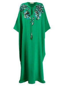 Emilio Pucci long beaded kaftan - Green