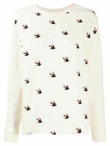 McQ Alexander McQueen birds print sweatshirt - NEUTRALS