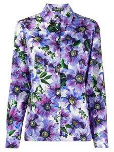 Dolce & Gabbana floral print cotton shirt - PURPLE