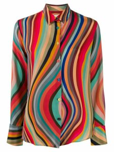 PS Paul Smith striped silk shirt - Red