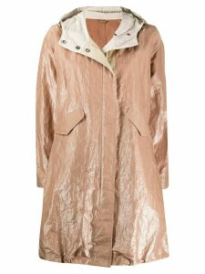 Brunello Cucinelli oversized wrinkled-effect coat - NEUTRALS