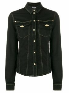 Versace Jeans Couture fitted press stud shirt - Black