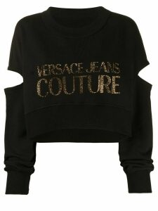 Versace Jeans Couture studded logo sweatshirt - Black