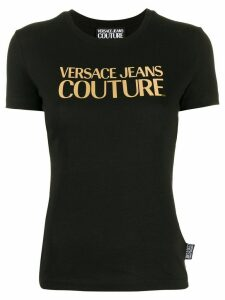 Versace Jeans Couture metallic logo T-shirt - Black