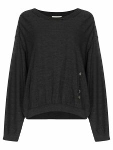 Lemaire wide neck knit sweater - Grey