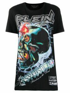 Philipp Plein Psychosocial graphic studded T-shirt - Black
