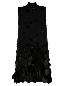 Prada sequinned chiffon mini dress - Black