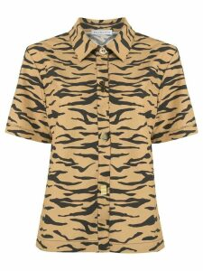 Rejina Pyo short sleeve tiger stripe shirt - Yellow